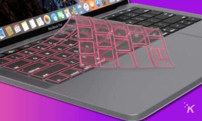 macbook keyboard cover on a macbook