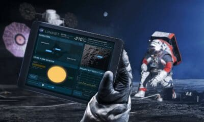 concept rendering of lunanet wifi network access on the moon