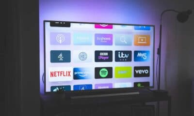 smart tv on stand