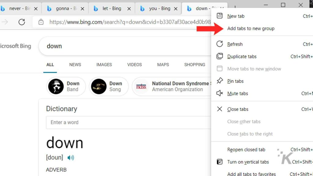 microsoft edge tab grouping feature how to
