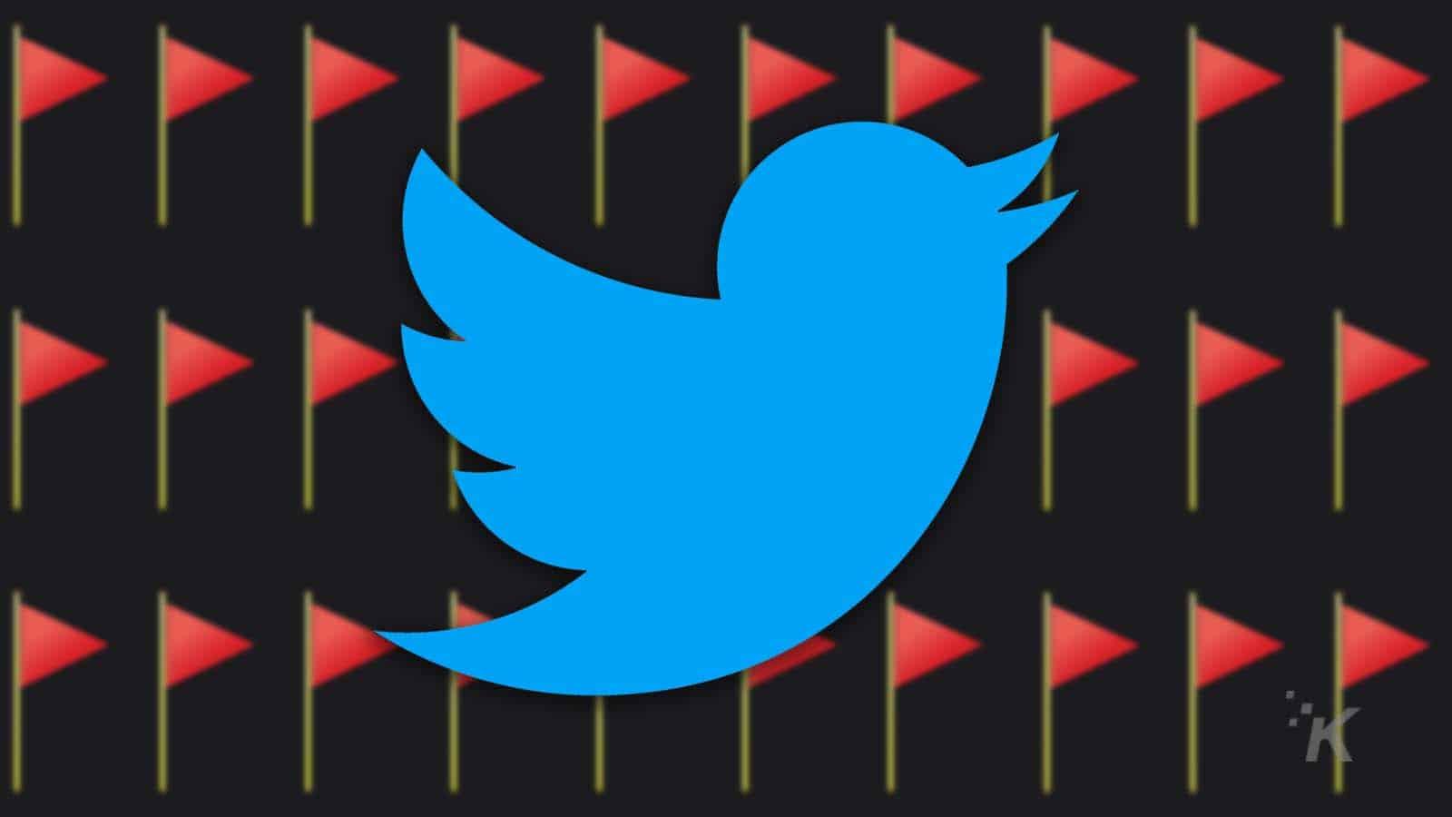 twitter red flag emoji